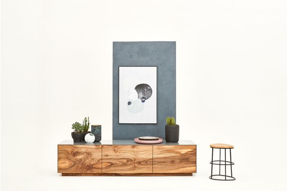 Sideboard Forest mit Walnuss Fronten